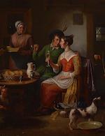 Alexander Carse (British, circa 1770-1843) The woo'ers visit