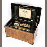A Drum et Bells musical box, by Bremond, circa 1883,