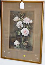 James Gray, RSW (British, active 1917-1947) Still life of pale pink roses