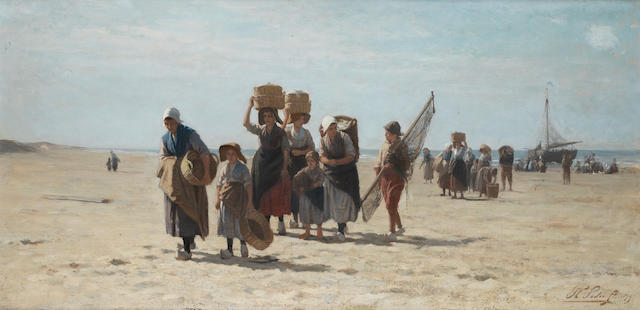 Philippe Lodewijk Sadée (Dutch, 1837-1904) Bringing in the catch