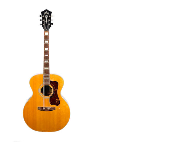 Guild F-47 steel string acousticincluding two letters of authenticity by previous owener Robert Fleischman