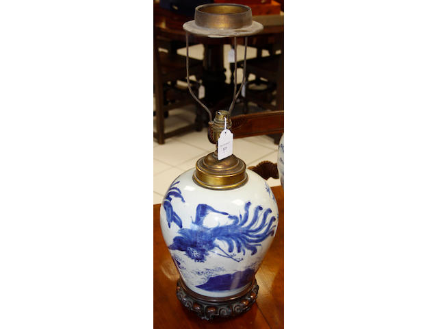 An 18th Century Chinese provincial blue and white vase