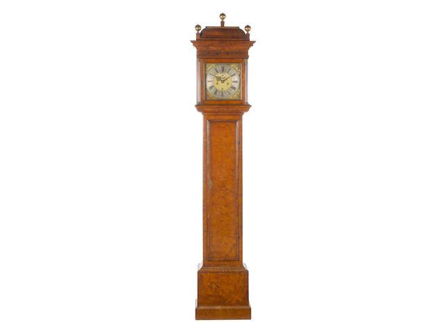 A fine and rare late 17th century burr walnut veneered longcase clock Samuel Watson, Londini fecit