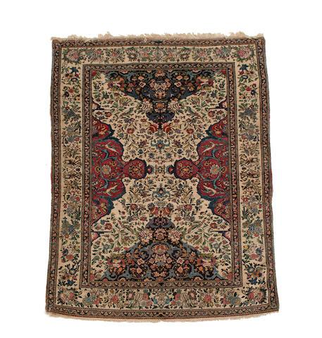An Isfahan rug Central Persia, 213cm x 137cm