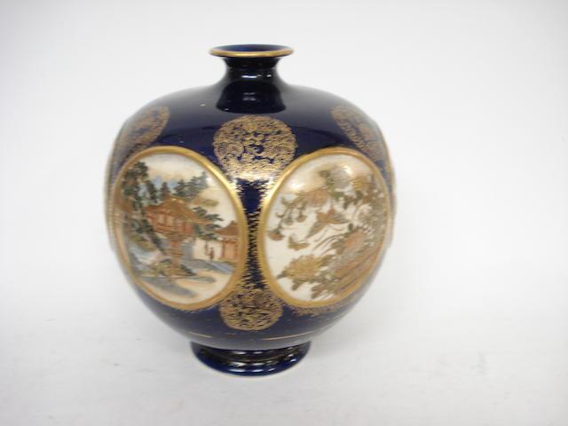 A Satsuma vase Meiji