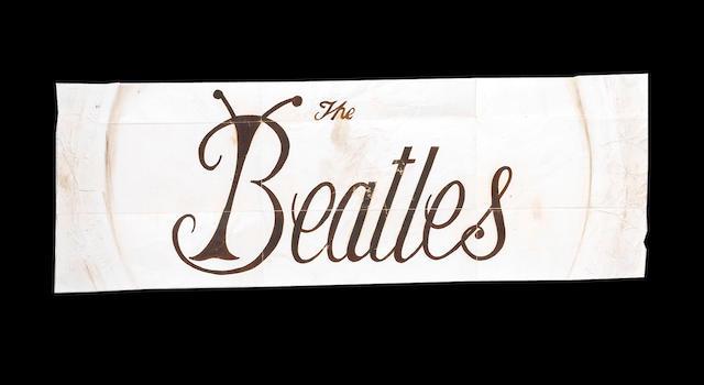 An original Beatles drum logo and designs, by Tex O'Hara,