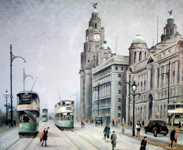 Arthur Delaney (British, 1927-1987) Liver Building, Liverpool