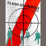 A 'Clash On Parole' UK tour poster, June-July 1978,