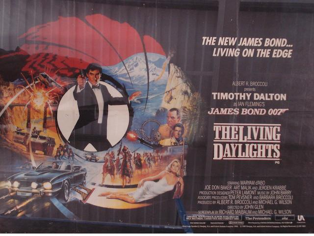 A James Bond 007 'The Living Daylights' film poster,