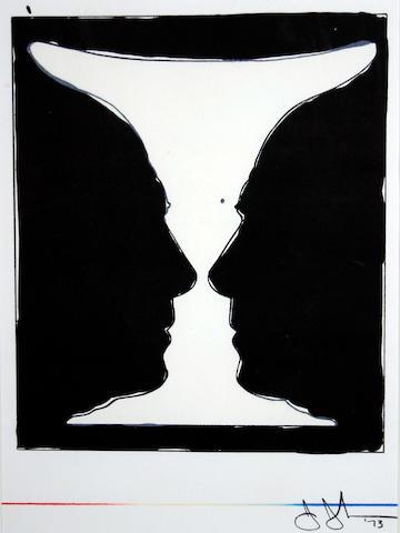 Jasper Johns (American, born 1930) 'Cup 2 Picasso'