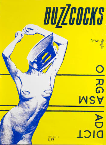 Buzzcocks: An original 'Orgasm Addict' promo poster, 1977,