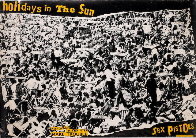 Sex Pistols: Five Jamie Reid designed single and album promo posters,  all 1977, including:5