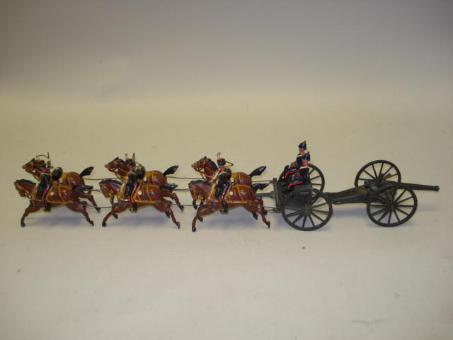 Britains from set 39, Royal Horse Artillery Gun Team 10