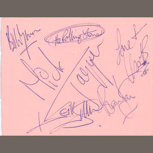 A set of Rolling Stones autographs, 1960s,