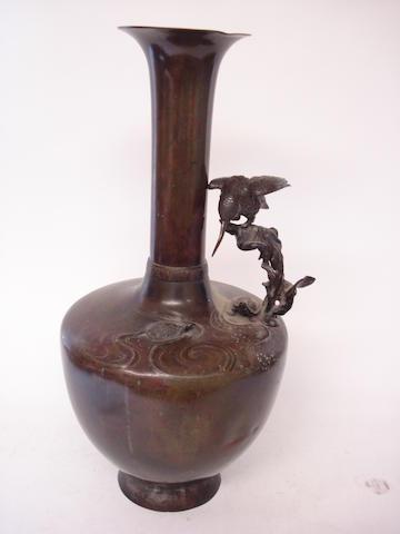 A bronze vase Meiji