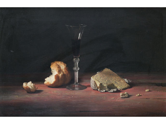 Jan Hendrik Eversen (Dutch, 1906-1995) Still life of bread and cheese