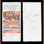 An autographed Beatles concert handbill, together with a set of Rolling Stones autographs,2