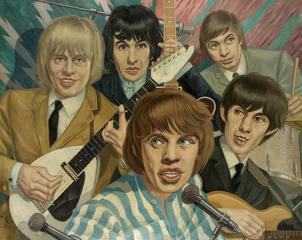 A painting of the Rolling Stones, 1965,