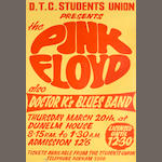 A poster for Pink Floyd at Dunelm House, Durham,