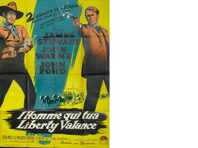 Three John Wayne related French film posters,  including: