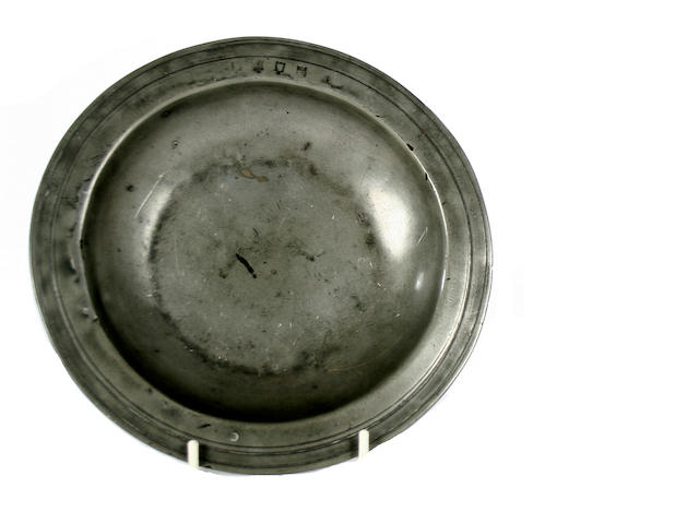 A late 17th Century multiple reeded dish