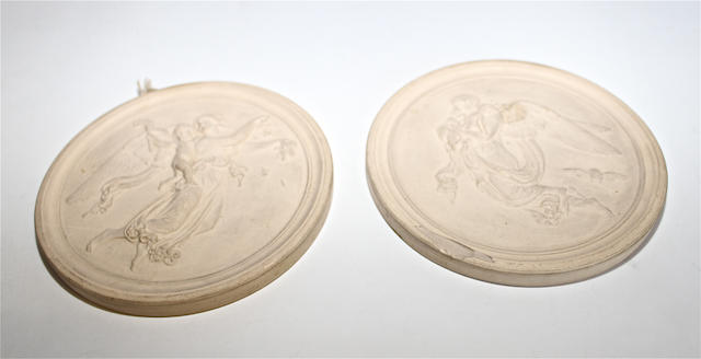 A pair of stoneware plaques by Peter Ipsen Late 19th century