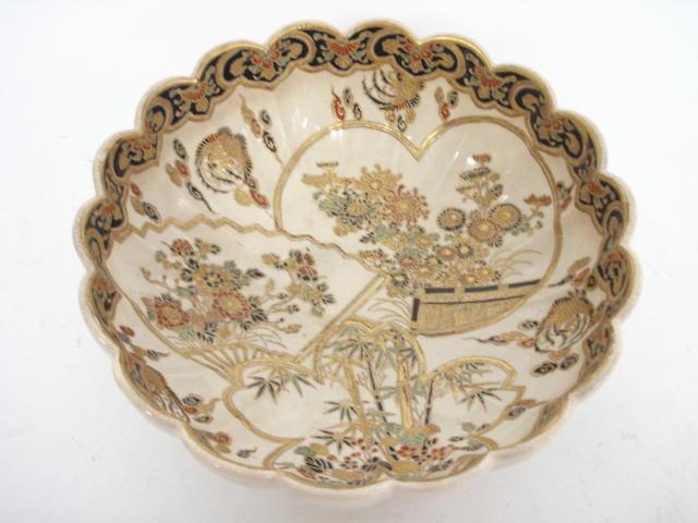 A Satsuma bowl Meiji, signed Satsuma-Yaki