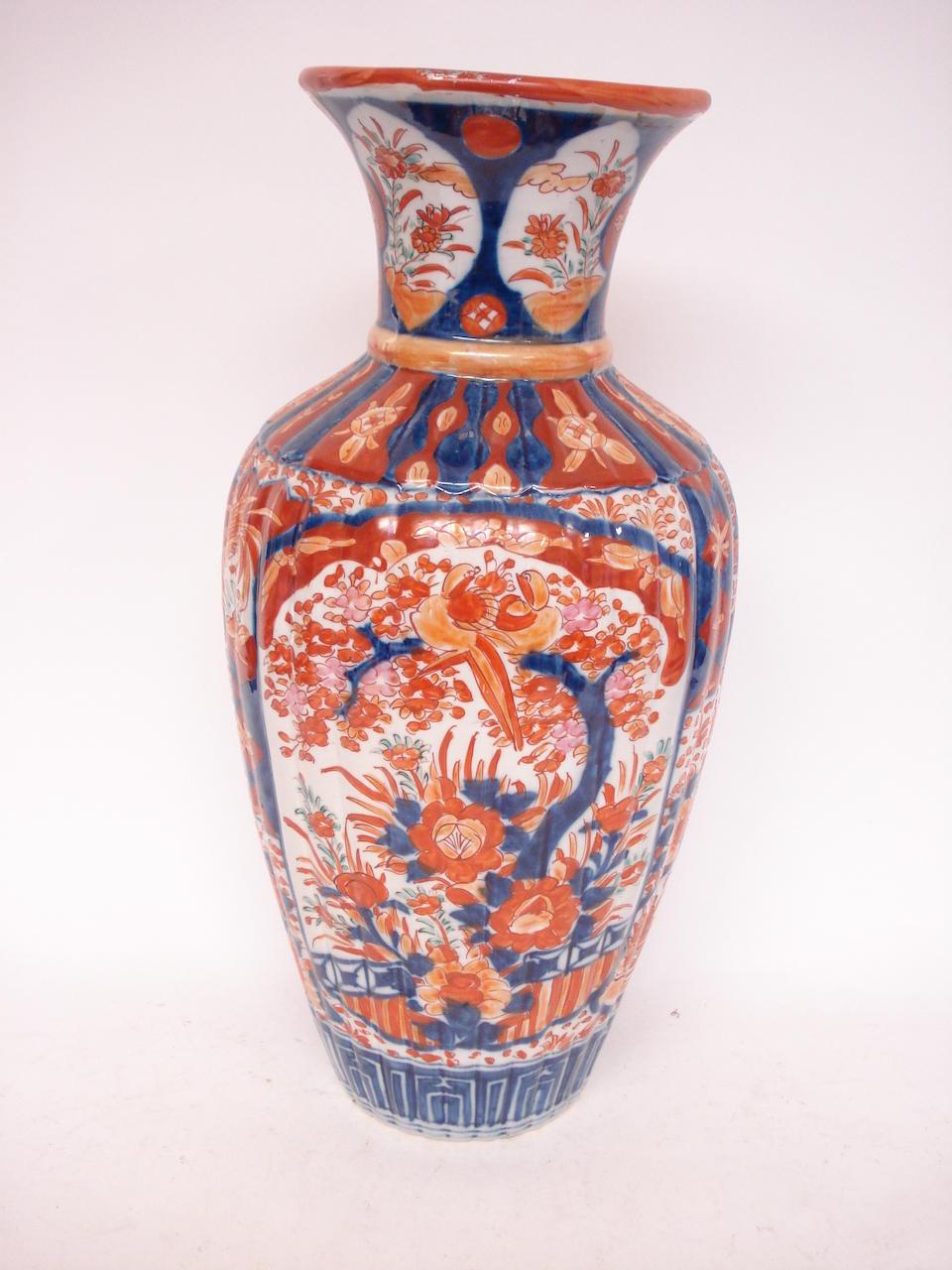 A large Imari vase Circa 1900