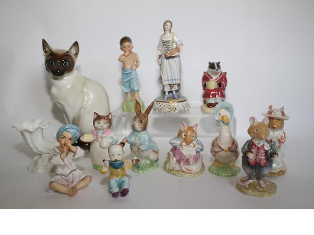 A Hutschenreuther porcelain model of a Siamese cat