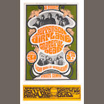 A poster for Jefferson Airplane & Grateful Dead at the O'Keefe Centre, Toronto, 31st July-5th August 1967,