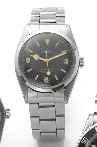 Rolex. A fine stainless steel centre seconds automatic wristwatch Ref:6150, Made in February 1953