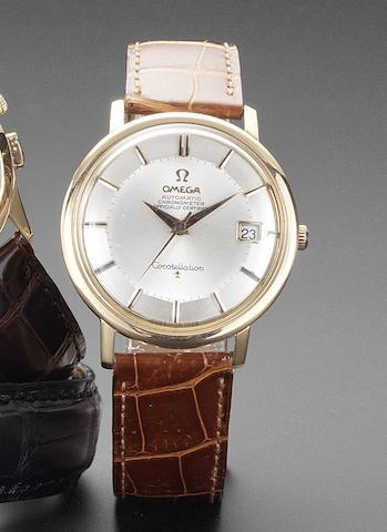 Omega. An 18ct rose gold automatic calendar wristwatch Constellation, 1960's