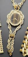Piaget. A fine and rare 18ct gold and Tiger's Eye set lady's pendant watch with integral 18ct yellow gold twisted-link necklaceCase No.6865P69, 1970's