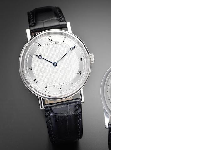 Breguet. A fine 18ct white gold automatic wristwatch together with fitted box, papers and certificate Classique, Ref.5157, Movement No. 40564, recent