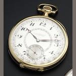 Girard Perregaux. An 18ct gold open face pocket watch Circa 1910