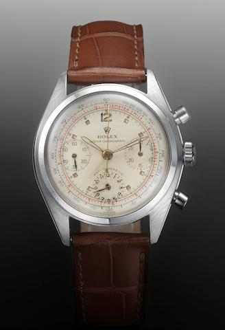 Rolex. A fine and rare stainless steel chronograph wristwatchOyster Chronograph, Anti-Magnetic, Ref:6234, circa 1954