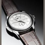 Patek Philippe. A fine platinum manual wind wristwatch with 24 hour dial Calatrava Travel Time, Ref:5134P, Case No.4188372, Movement No.3086918, recent