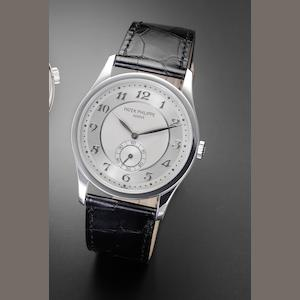 Patek Philippe. A fine platinum manual wind wristwatch Ref:5196P, Case No. 4476624, recent