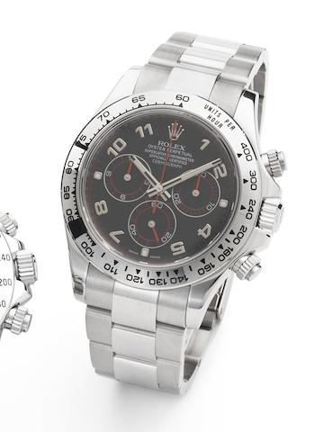 Rolex. An 18ct gold automatic chronograph bracelet watch with box and papers Daytona Cosmograph, Ref:116509, Case No.Z698999, Sold 22nd November 2007