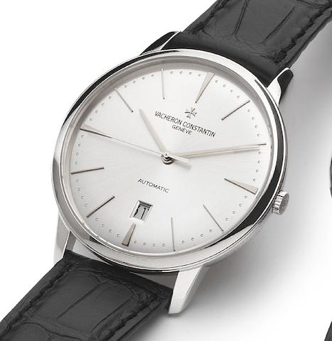 Vacheron Constantin. A fine 18ct white gold automatic centre seconds calendar watch with fitted box and papers Patrimony Contemporaine, Ref:85180/G, Sold 20th July 2007