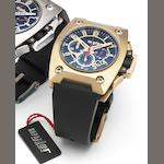 Wyler. An 18ct rose gold automatic limited edition chronograph wristwatch Incaflex, Case Number 100.363, Limited edition 0362 of 3999, Circa 2008