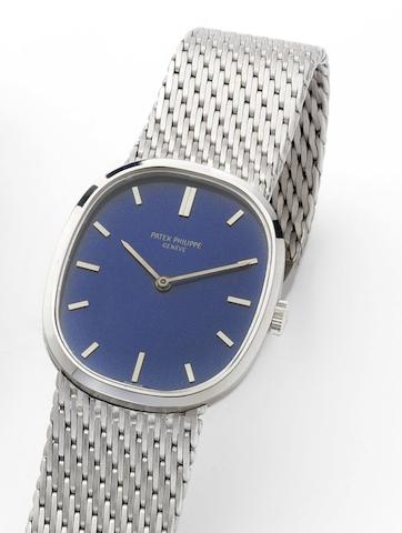 Patek Philippe. A fine 18ct white gold manual wind bracelet watchEllipse, Ref. 3548, Case No. 2697992, Movement No. 1157857, Circa 1970