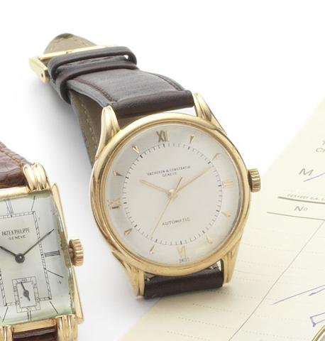 Vacheron Constantin. A fine 18ct rose gold centre seconds automatic wristwatchCase No.327066, Movement No.497382, circa 1950