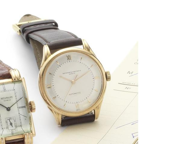 Vacheron Constantin. A fine 18ct rose gold centre seconds automatic wristwatch Case No.327066, Movement No.497382, circa 1950