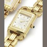 Jaeger LeCoultre. A fine lady's 18ct gold and diamond set reverso wristwatch Recent