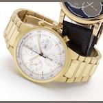 IWC. A fine 18ct gold automatic chronograph wristwatch with day and date, together with box and papers  GST Chrono Automatic, Case No. 2712646, Ref.9277, circa 2000