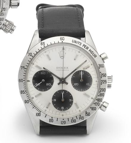 Rolex. A fine and rare stainless steel chronograph wristwatch Daytona, Ref:6239, circa 1965