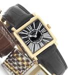 Franck Muller. An 18ct rose gold quartz wristwatchMaster square, recent