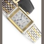Jaeger LeCoultre. A stainless steel and 18ct gold reversible wristwatch with factory box Reverso, Ref:270.5.62, circa 1990