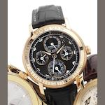 Audemars Piguet. A fine 18ct rose gold wristwatch with perpetual calendar, adjusted for the city of GenevaEquation of Time Geneva, Jules Audemars, Case No.E67919. Made in a limited series each year since 2000